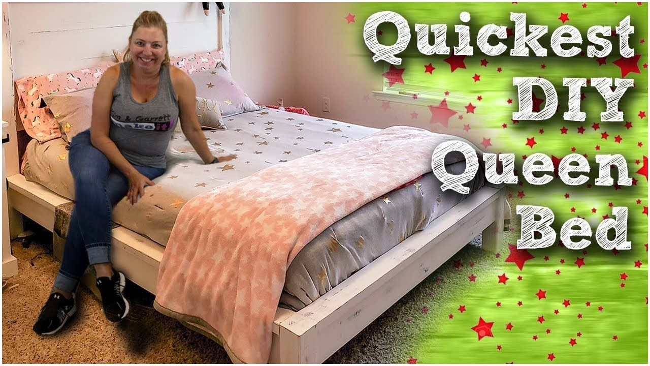 How To Build A Rustic Modern Queen Bed DIY 150