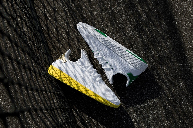 Pharrell Williams x adidas Tennis Hu Primeknit Gold and Green-1
