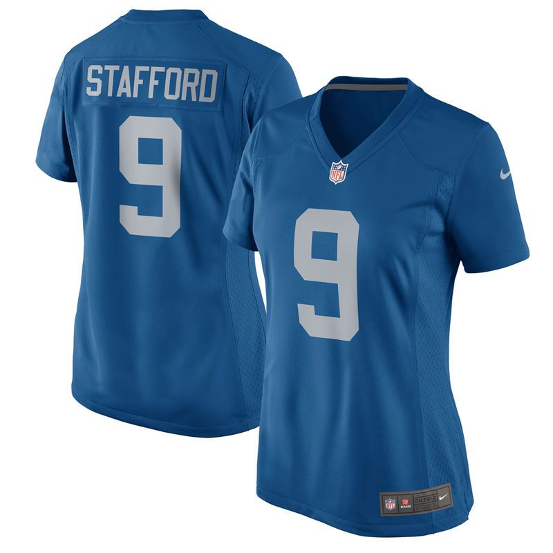 1f82873f426 Matthew Stafford Detroit Lions Nike Women's 2017 Throwback Game Jersey -  Blue
