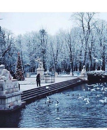 Lazienki Park in Winter, Warszawa