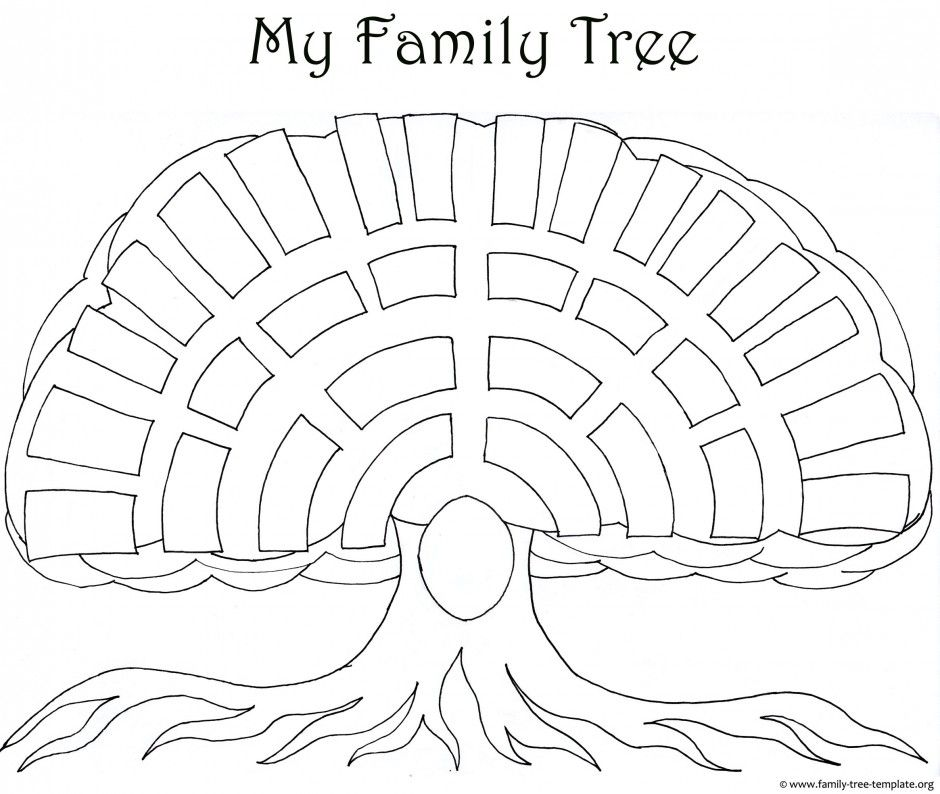A Printable Blank Family Tree To Make Your Kids Genealogy Chart - blank family tree