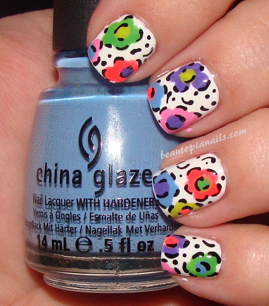Abstract Floral Manicure by Beautopia Nails