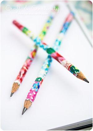 #decoupage #pencils #diy #craft by bettie