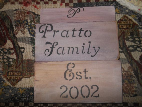 Personalized Family Name Wedding Small Rustic Sign by AngelPaws6