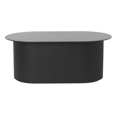 Ferm Living Podia Table Oval Black Color Oval Coffee Tables