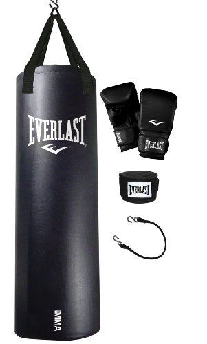 741cf3786 Everlast 70-Pound MMA Heavy Bag Kit by Everlast.  71.99. 70 lb. Everlast  Nevatear MMA black Heavy Bag kit. Comes complete with heavy bag gloves