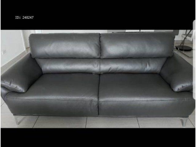 sofa cama encuentra24 panama best sleeper mattress furnisher mueble gris de cuerina 3 puestos 450 negociable