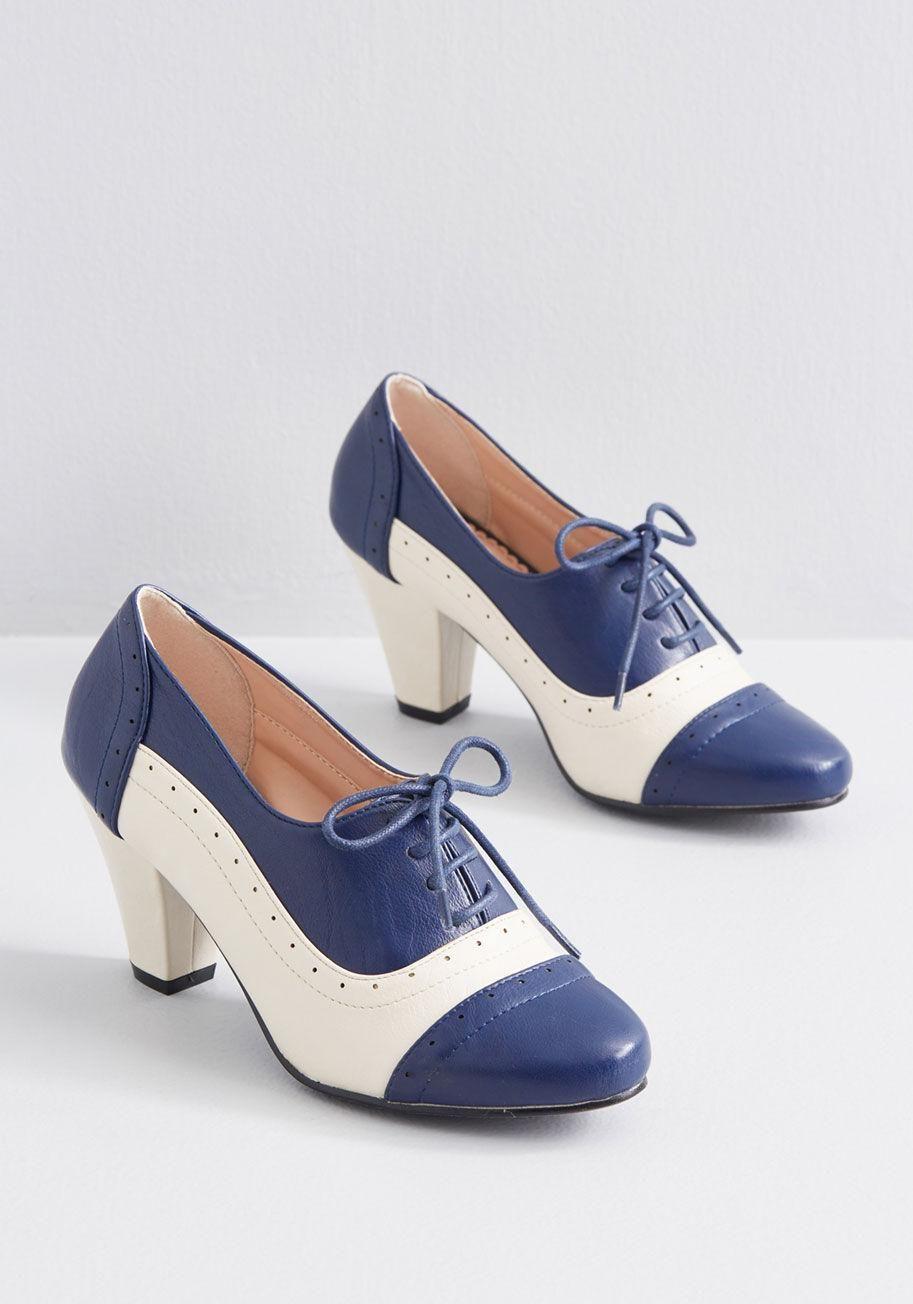 Dance Oxford Heel   Navy blue heels