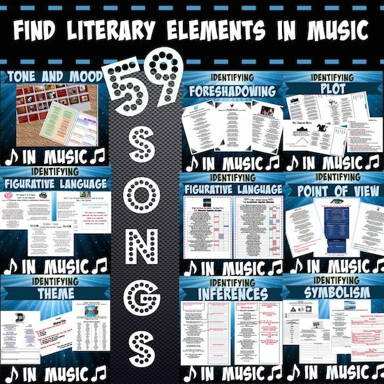 Find literary elements in music (59 songs)