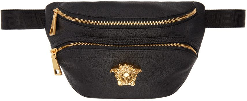 a9f9eecddee9 VERSACE Black Leather Medusa Belt Pouch.  versace  belt