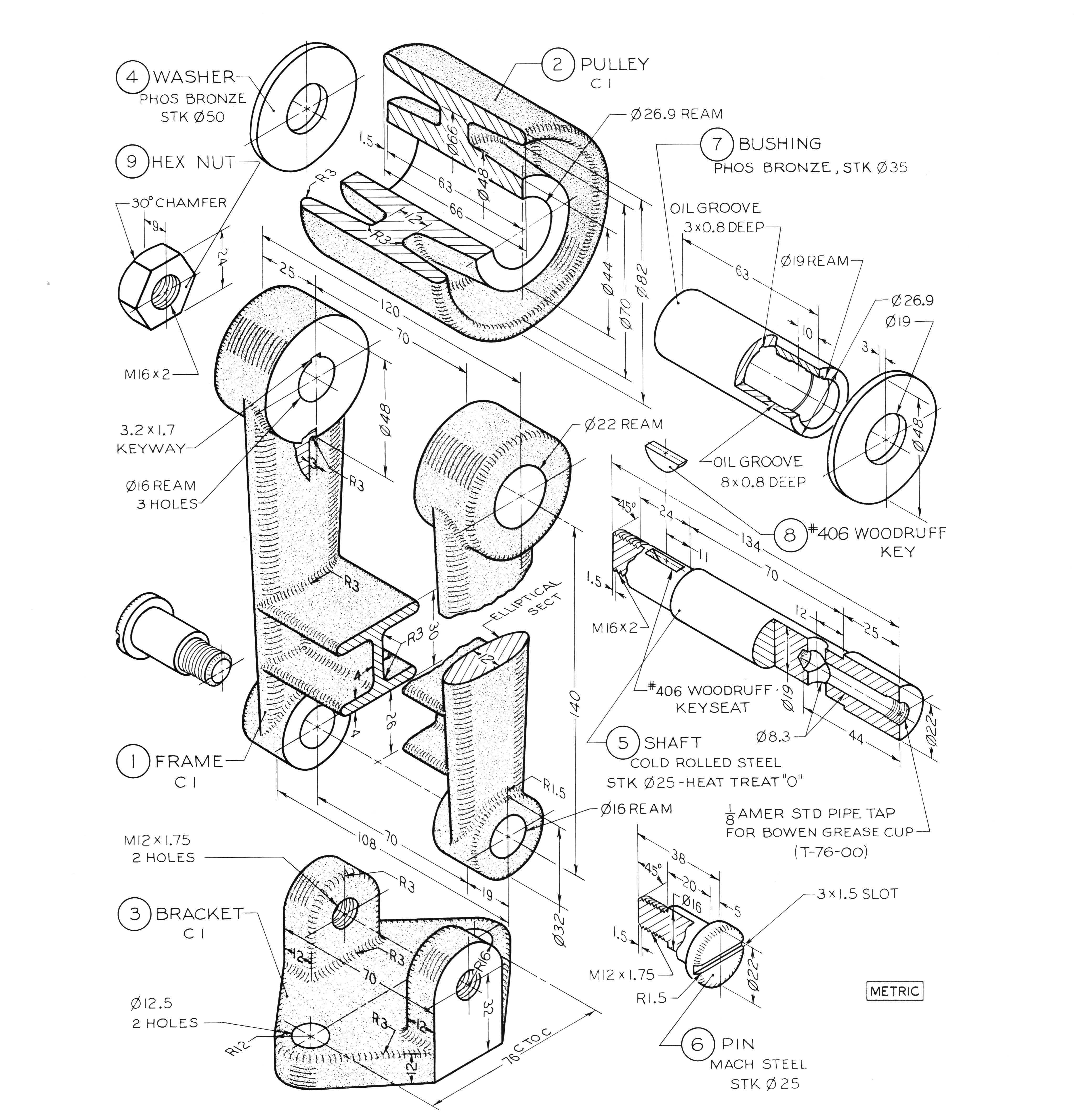 Pin De Nesreen En Davinci S Bookshelf Dibujo Mecanico Planos Mecanicos Ejercicios De Dibujo
