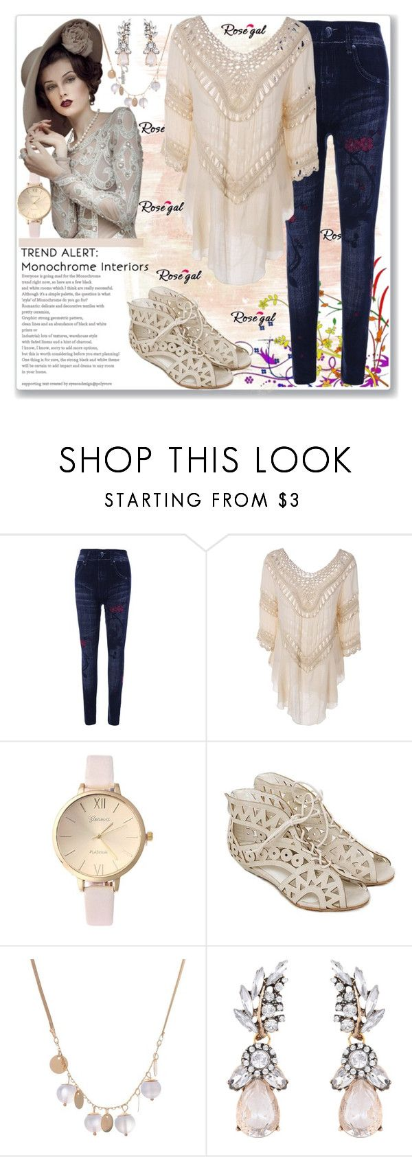 """""""Through Blouse - Apricot-29"""" by ane-twist ❤ liked on Polyvore"""
