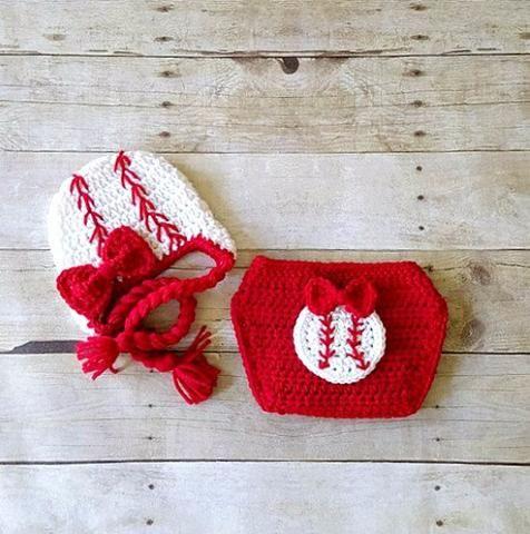 Crochet Baby 4th of July Chevron Romper Bow Headband Set Striped ...