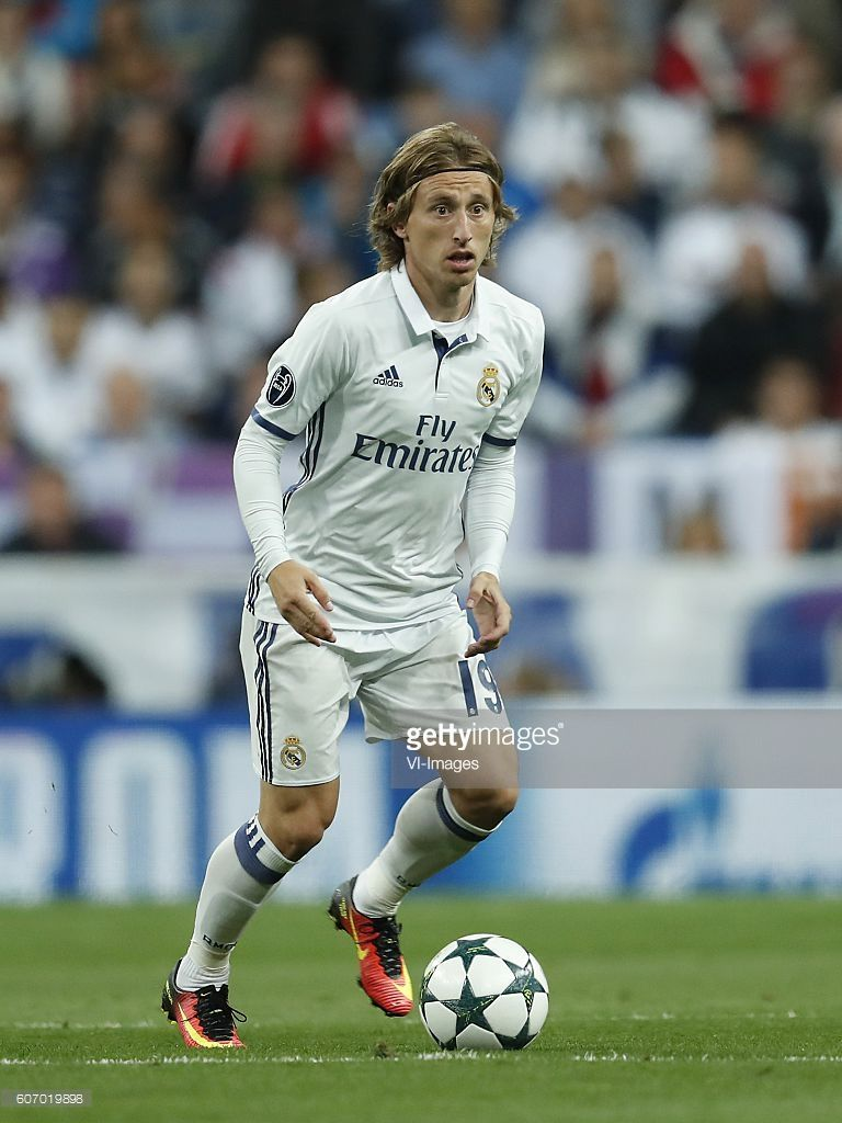 Luka Modric of Real Madrid during the UEFA Champions League group
