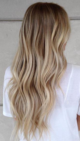 Hairstyle Blonde On Top Dark Underneath #makeup #summer #blondebalayage