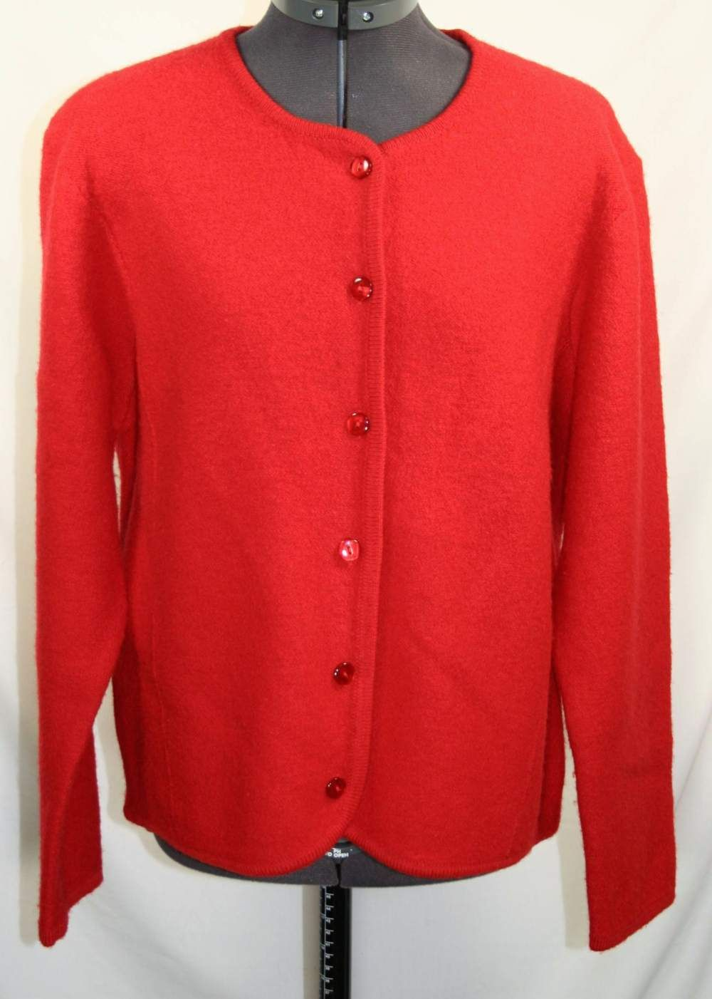 Pendleton Vintage Sweater 100 Wool Cardigan Red Women's Large Long ...