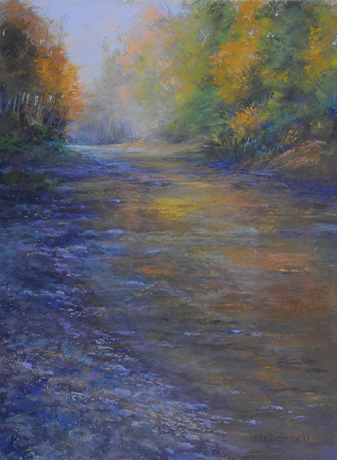 """Autumn Glow by Kathy McDonnell Pastel ~ 16"""" x 12"""""""