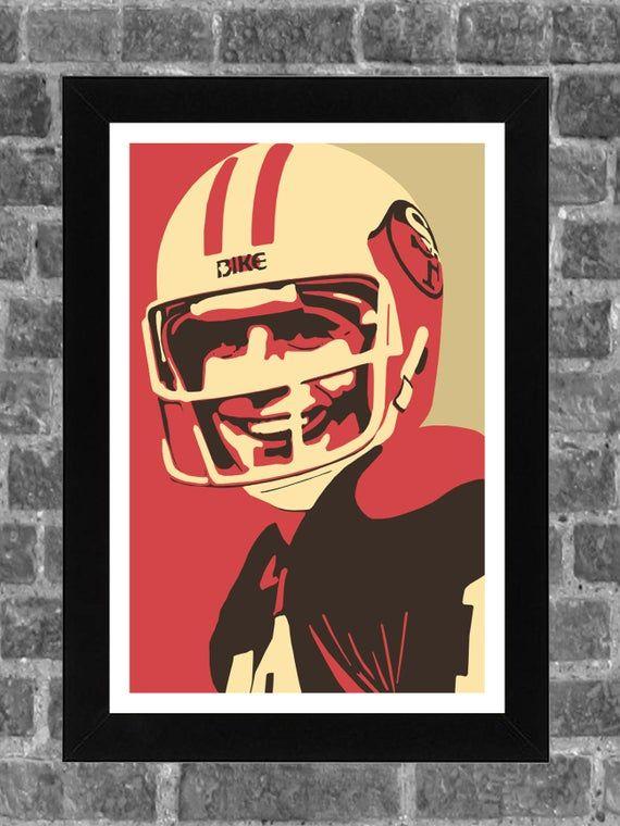 San Francisco Joe Montana Sports Print Art 11x17 in 2020