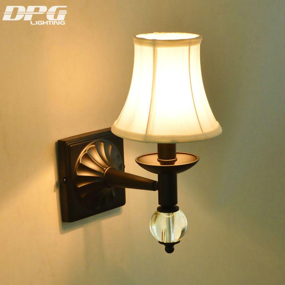 Led Modern Iron crystal wall lamp wall light indoor lighting wall ...