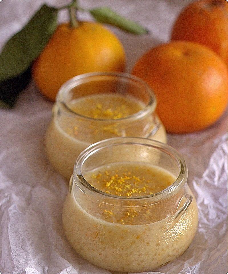 appelsiinejahunajaa: Aurinkoinen tapiokavanukas