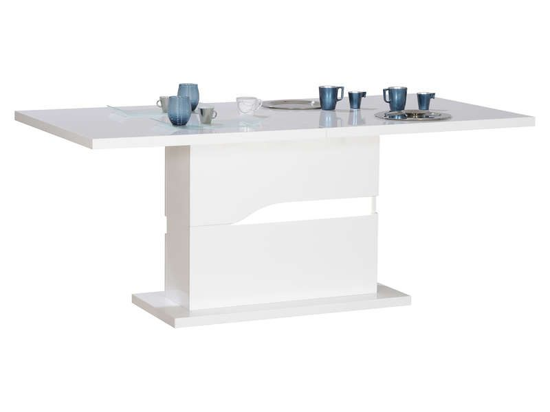 Table Avec Allonge Ovio Coloris Blanc Pas Cher Table Conforama Bon Shopping Com Conforama Table Blanc