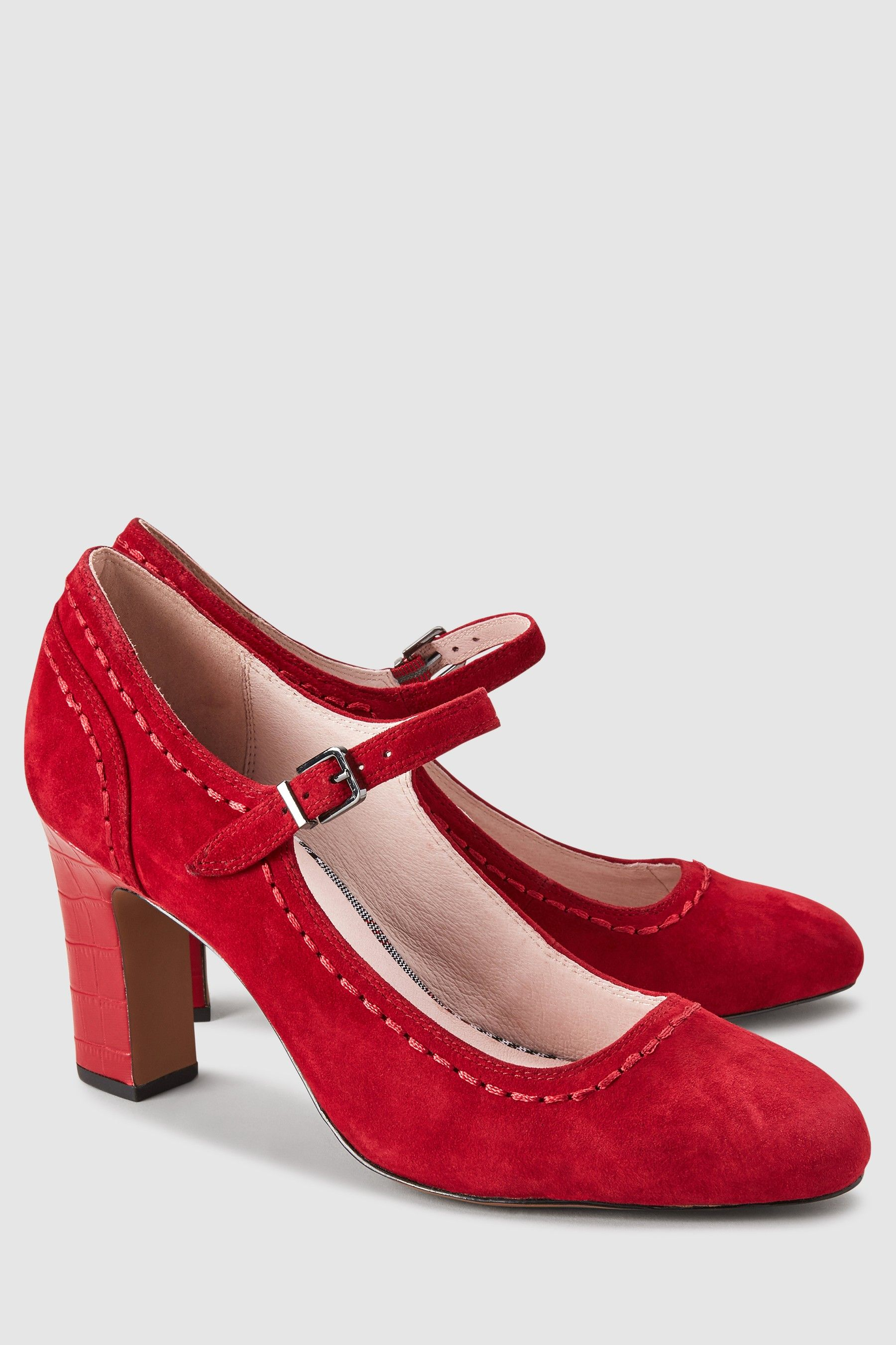 df1c43e844f3b Womens Next Red Leather Mary Jane Shoes - Red | Products | Shoes ...