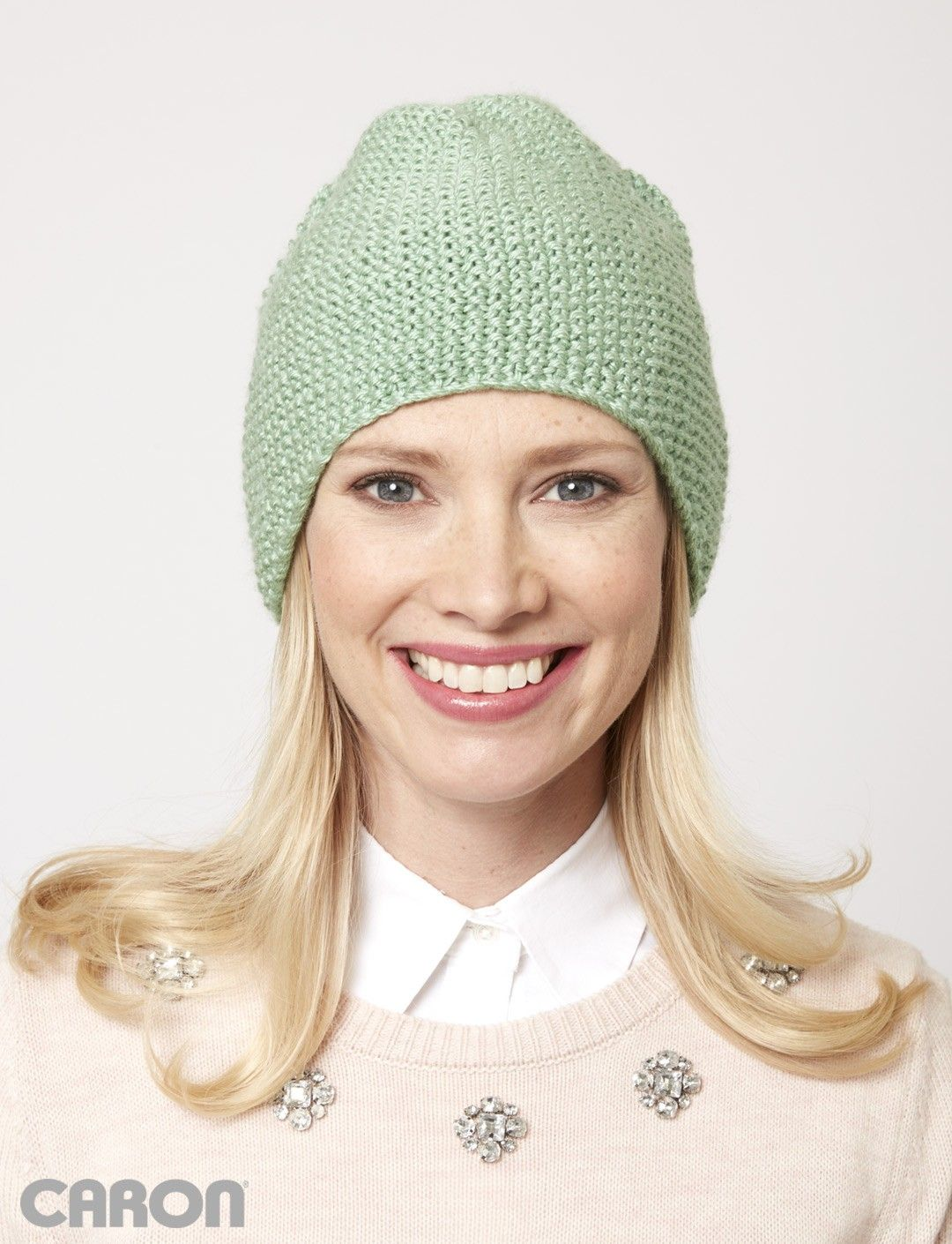 Seed stitch beanie patterns yarnspirations hobbies the soft and versatile spring meadow seed stitch beanie is the perfect topper for the unpredictable days of spring this beginner knitting pattern is ideal bankloansurffo Images