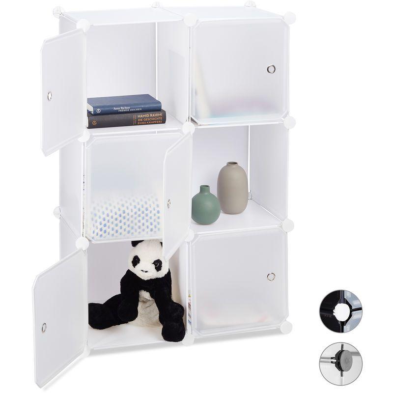 Etagere Cubes Penderie Armoire Rangement 6 Casiers Plastique