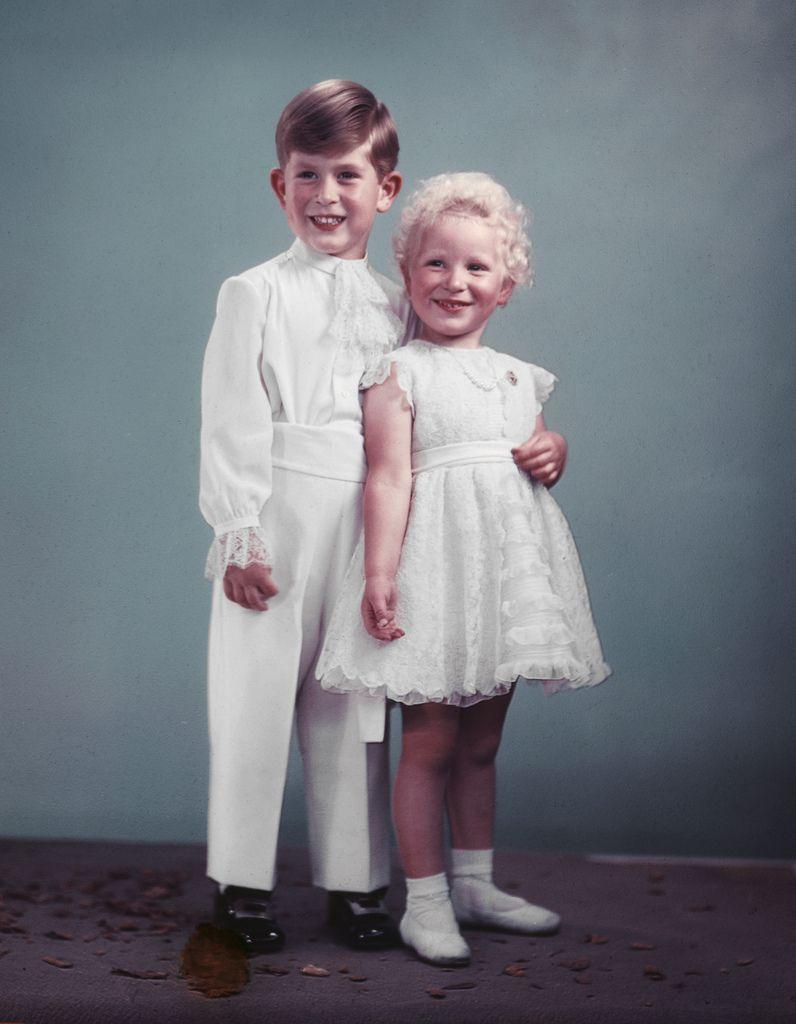 NPG x193056; Queen Elizabeth II; Prince Charles; Princess