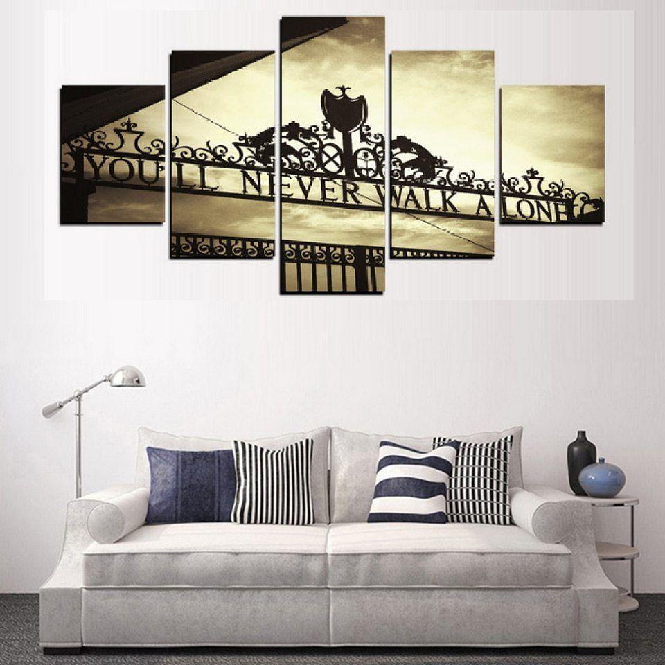 Wohnzimmer Leinwand Rahmen Wand Kunst Poster Moderne 5