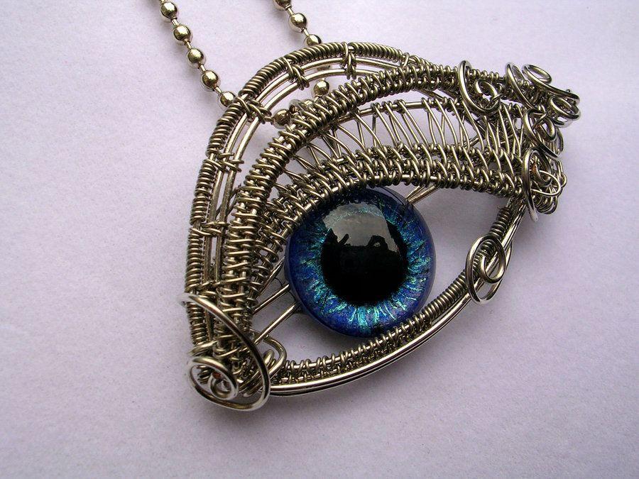Glow blue cerulean silver eye pendant 2 by ladypirotessa glow blue cerulean silver eye pendant 2 by ladypirotessaiantart aloadofball Images
