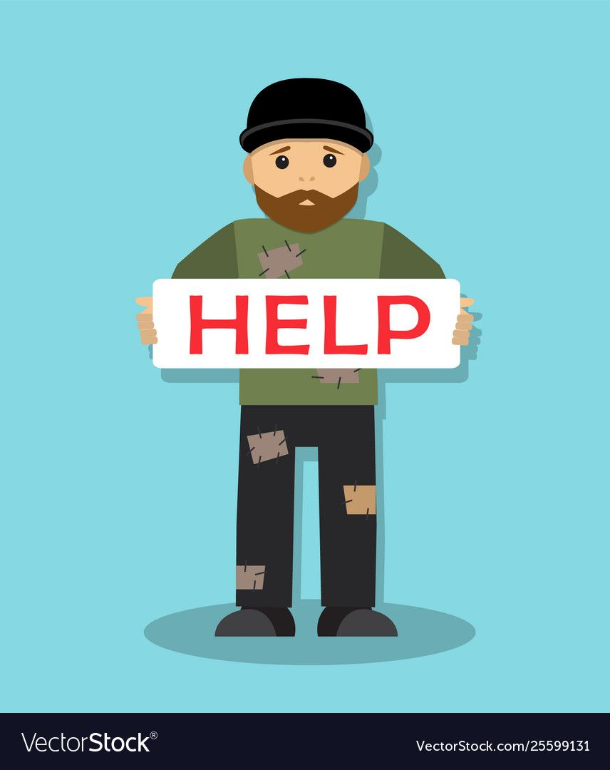 Homeless Man Asks For Help Royalty Free Vector Image Affiliate Asks Man Homeless Royalty Ad Vector Free Free Vector Images Vector Images