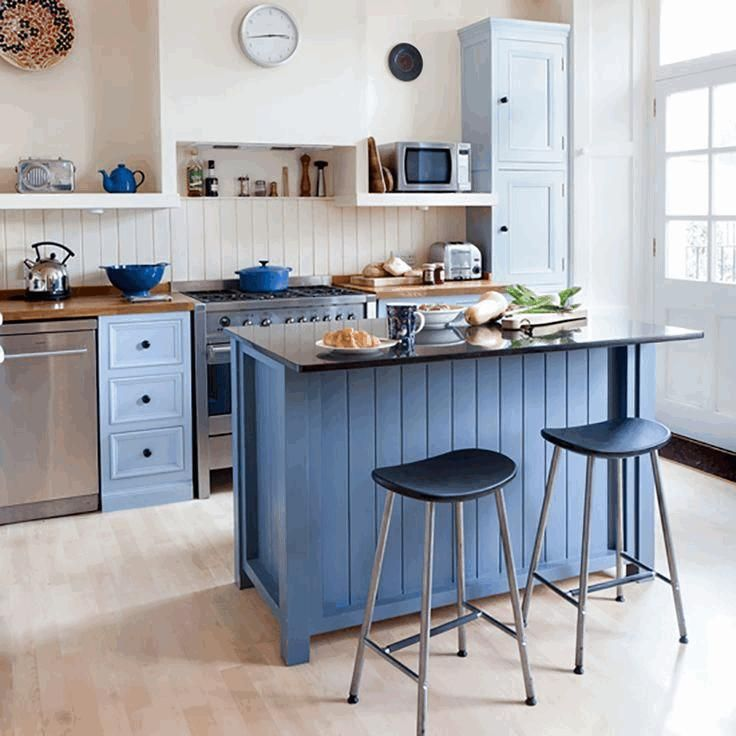 51 Small Kitchen Design Ideas That Make The Most Of A Tiny: Kitchen, Kitchen Island Small Space Cherry Wood Cabinet