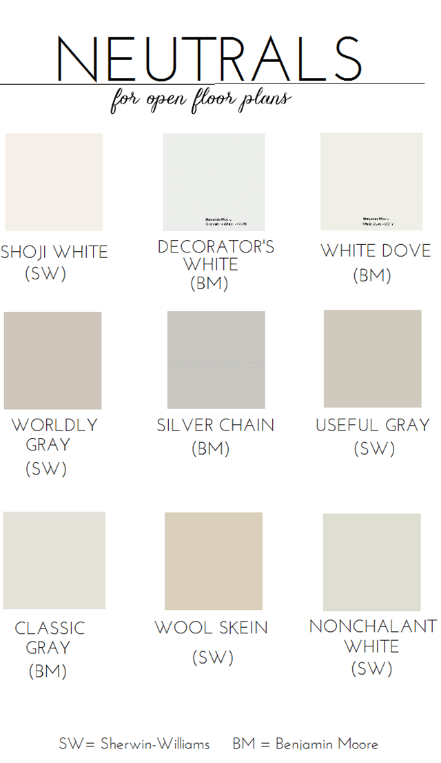 Choosing paint for an open floor plan neutral paint for Shades of neutral colors