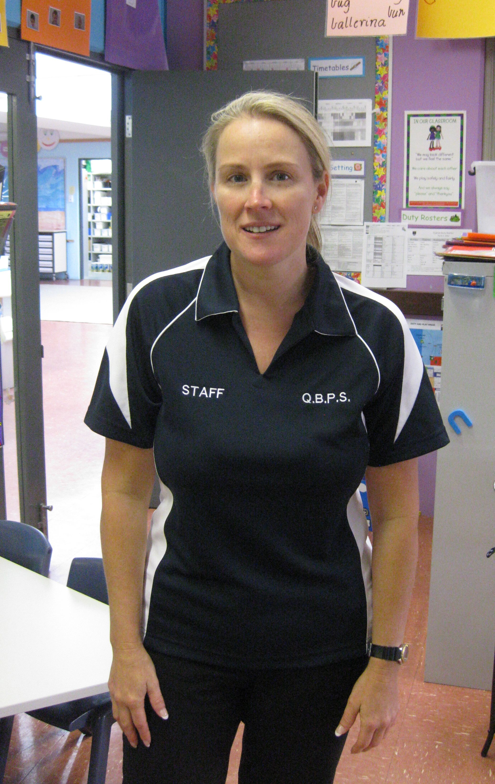 Quinns Beach Primary School - D3 teacher! I wear a staff shirt everyday! It is so easy to decide what to wear every morning.  I like to wear a uniform so I don't get paint, dye or any of that fun messy stuff on my favourite clothes from home!