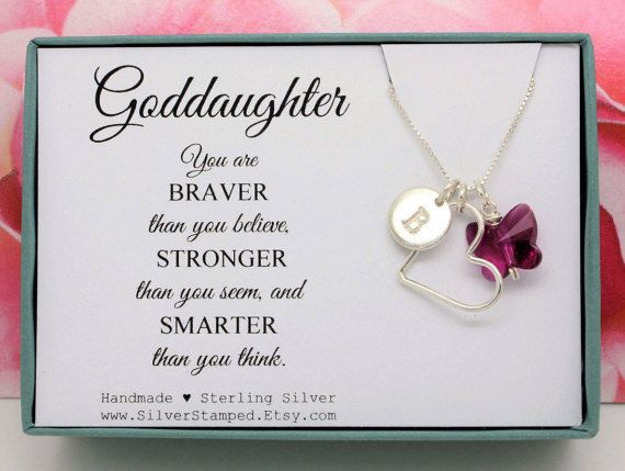 Gift for goddaughter necklace all sterling silver by silverstamped gift for goddaughter necklace all sterling silver by silverstamped negle Gallery