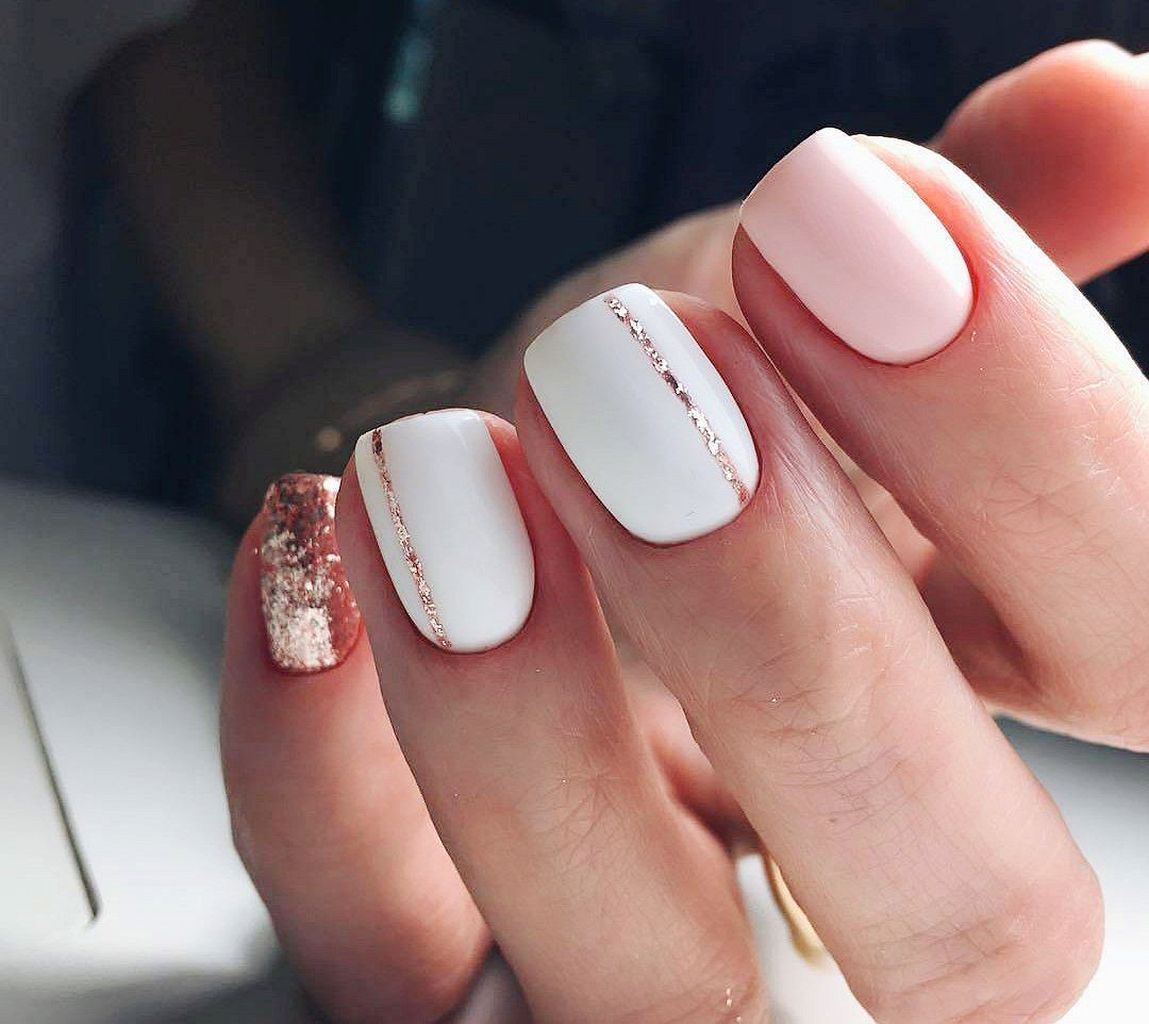 30 Simple Spring Nail Design Ideas That Are Looks Pretty Gold