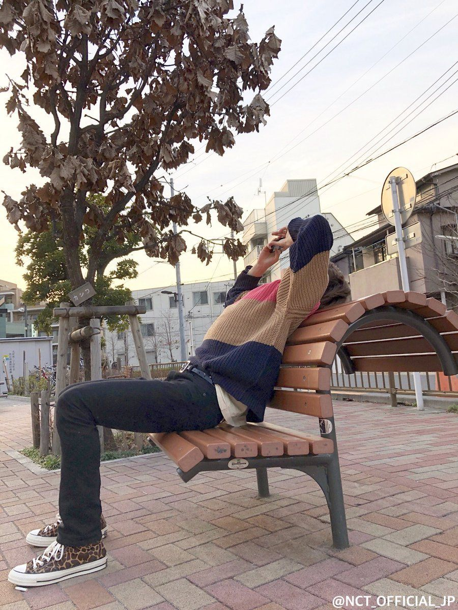 NCT_OFFICIAL_JP: <'NEO CITY : JAPAN – The Origin'> Memories #28 Jaehyun is taking a break at the park where we stopped by between recordings. That days weather was great, the sky was beautiful so we...