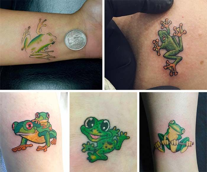 50 Absolutely Cute Small Tattoos For Girls And Their Meanings Cute Small Tattoos Small Girl Tattoos Frog Tattoos