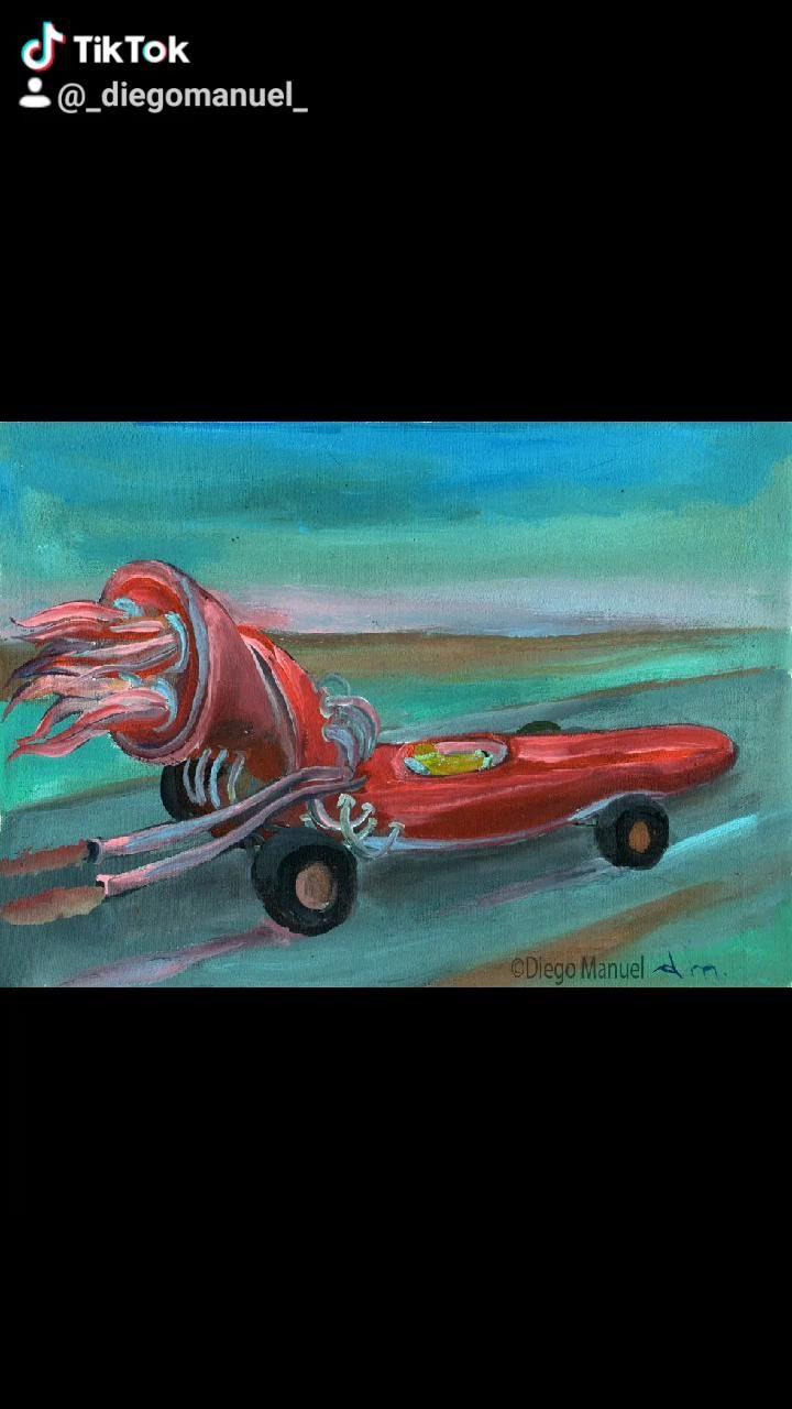 Serie el viaje, pinturas de Diego Manuel Rodríguez #expressionist #paintings #artforsale #cars
