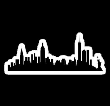 New York City Skyline Sticker By Livrose8 New York Skyline Silhouette City Skyline Silhouette Ny City Skyline