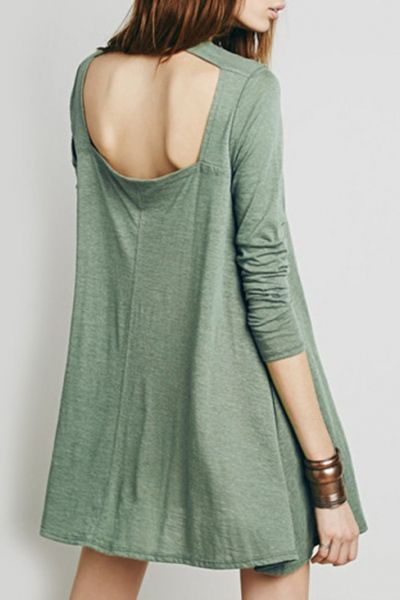 fashion-solid-color-cut-out-back-dress