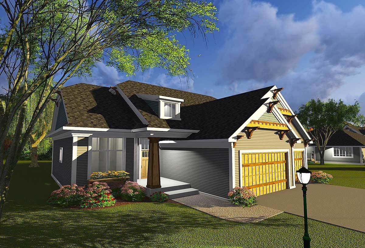 Plan 89987ah Craftsman With Open Concept Floor In
