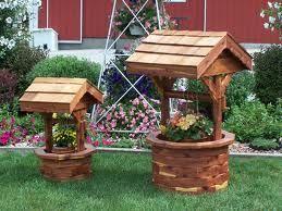 Wishing Well Garden Planter Wishing Well Garden Diy Garden Decor Yard Decor