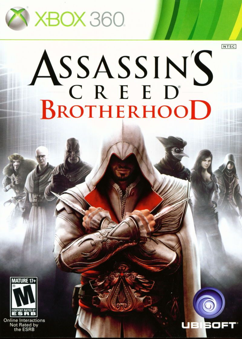 Assassin S Creed Brotherhood Xbox 360 Front Cover Assassin S