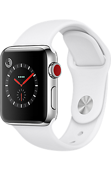 Apple Watch Series 3 Stainless Steel 38mm Case Sport Band