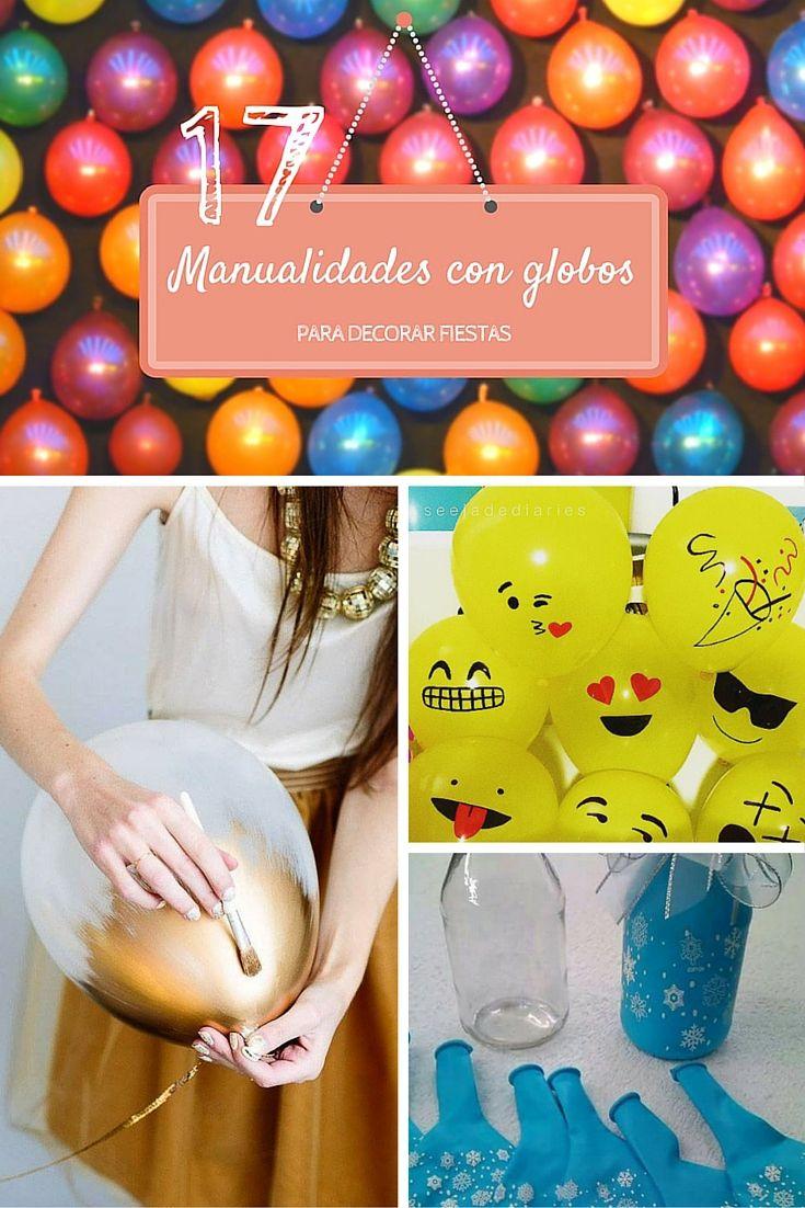 17 manualidades originales con globos para decorar fiestas