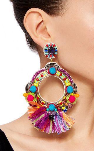 Embellished Circle Earrings Ranjana Khan imLl7