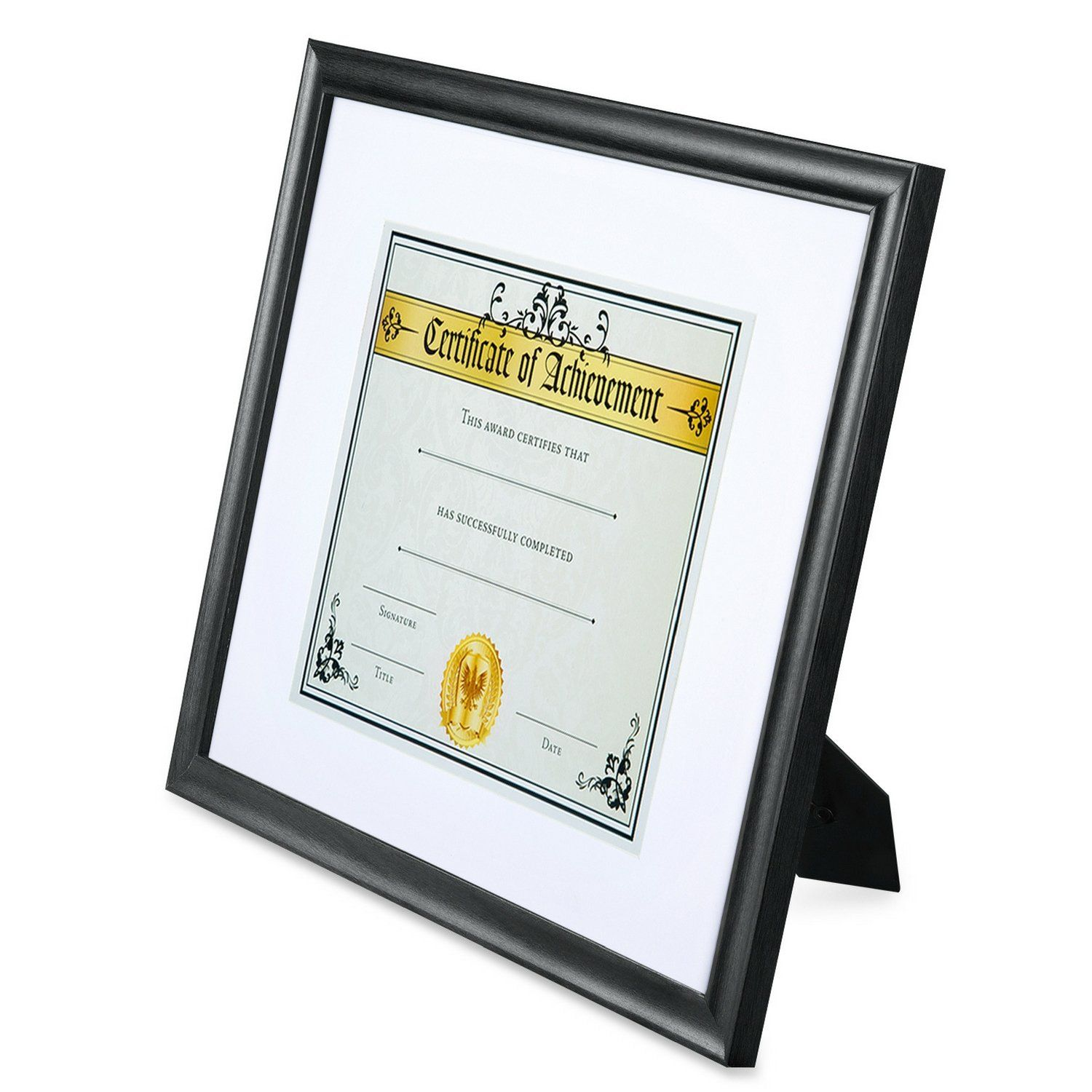 Icona Bay 11 By 14 Picture Frame 11x14 Matted To 8 5x11 Matte Black Wood Document Frame With Mat 2 Achievement C Picture Frame Mat Document Frame Diploma Frame