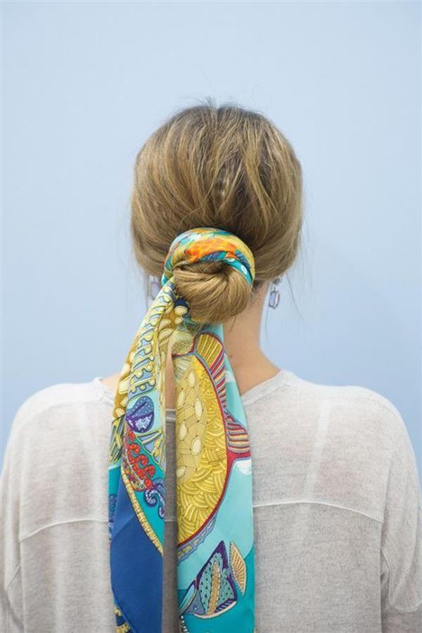 De moda peinados moño bajo Colección de tendencias de color de pelo - Peinados con pañuelos:moño bajo, las mejores ideas para ...
